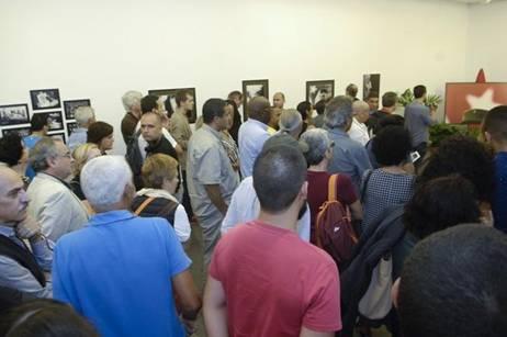 Vista parcial de la sala donde se expone Fidel es Fidel, el día de la inauguración en Gran Canaria