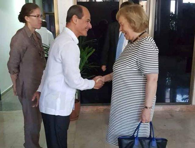 María Böhmer dialogó en La Habana con el vicecanciller cubano, Rogelio Sierra   Foto: PL