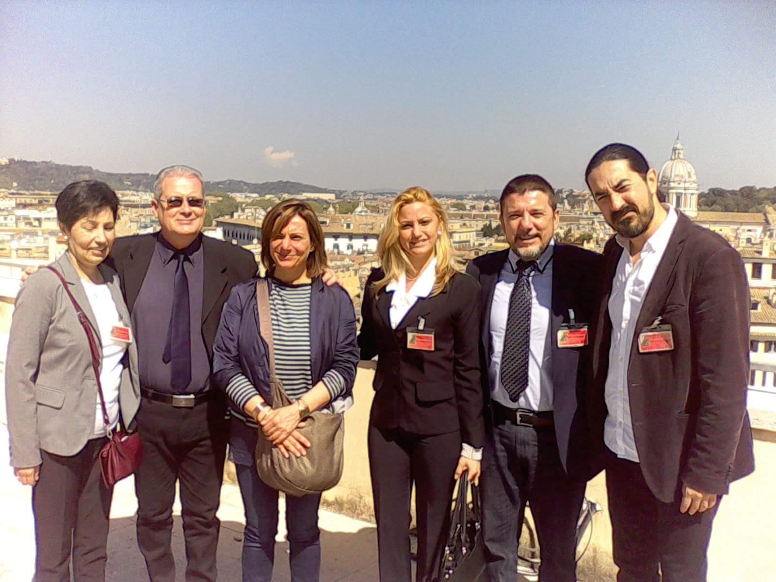 Reciben en la c mara de diputados del parlamento italiano for Concorsi parlamento italiano 2017